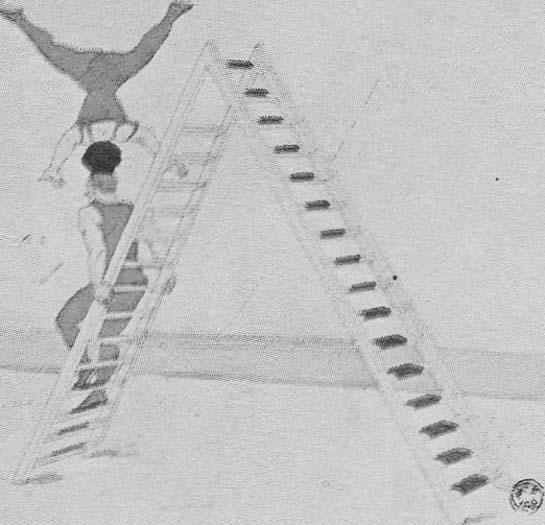 Дуэт эквилибристов u силовых акробатов Пассель в Цирке Медрано. 1914 год.