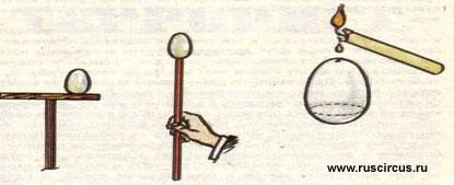 Описание фокуса яйцо - ванька-встанька.