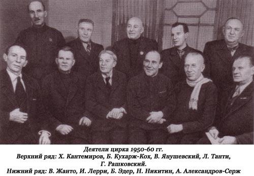 Деятели цирка 1950-60 гг.