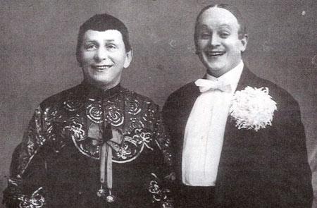 Основатель дуэта Бим-Бом И. Радунский (слева) с партнером М. Станевским